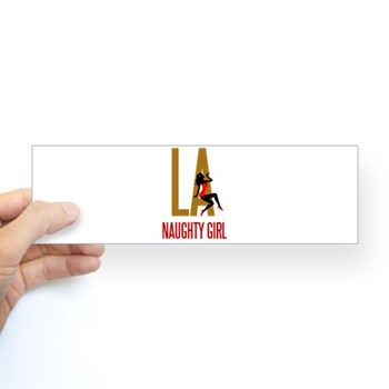 Naughty Girl Bumper Sticker | Naughty LA